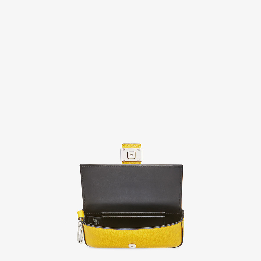 FENDI MICRO BAGUETTE - Yellow leather micro-bag - view 3 detail