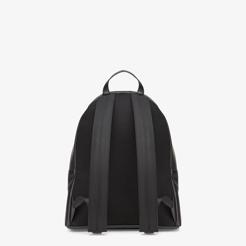 FENDI BACKPACK - Black leather backpack - view 3 detail