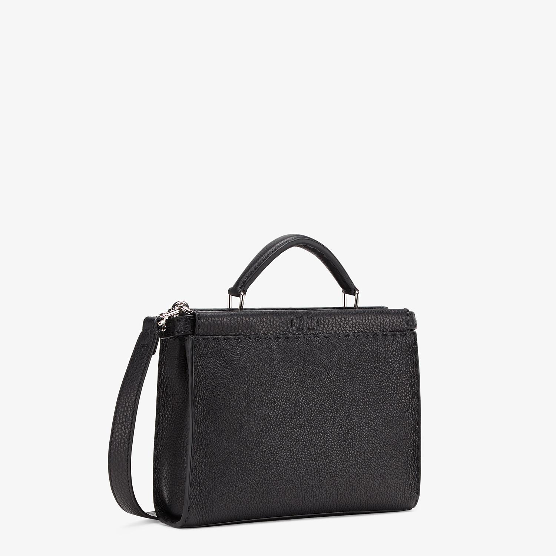 FENDI PEEKABOO ICONIC FIT MINI - Black leather bag - view 2 detail