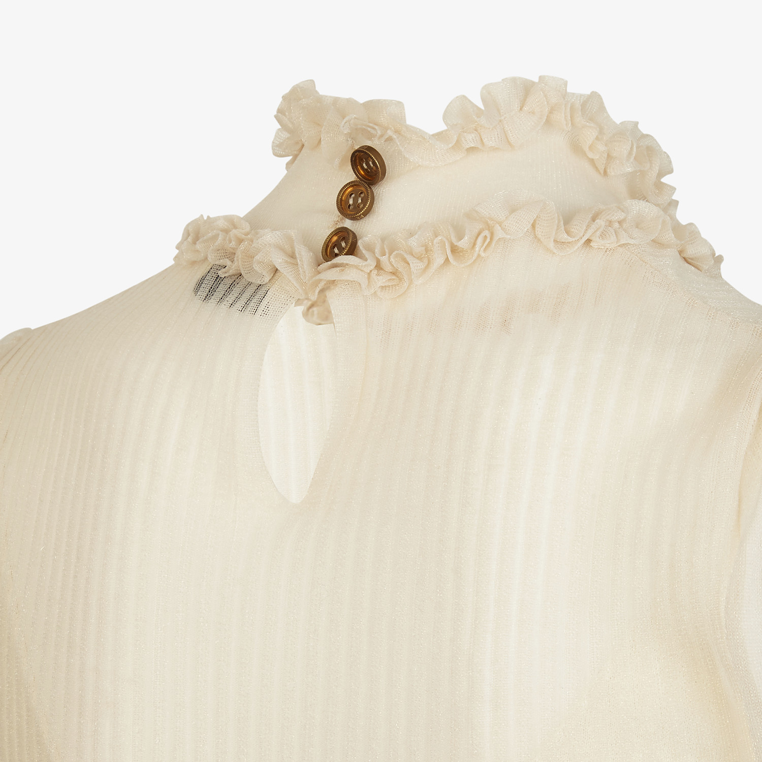 FENDI SWEATER - Beige nylon sweater - view 3 detail