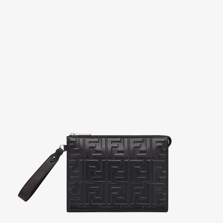 FENDI FLAT POUCH - Black nappa leather pouch - view 1 detail