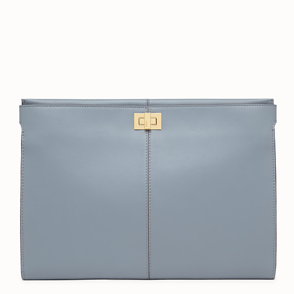 FENDI CLUTCH WALLET - Blue leather clutch bag - view 1 small thumbnail