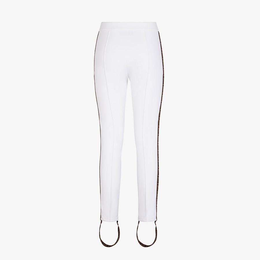 FENDI LEGGINGS - Leggings aus Stretch-Stoff in Weiß - view 2 detail