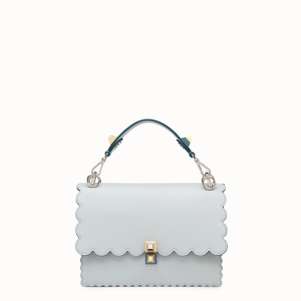 FENDI KAN I - Sac en cuir gris - view 1 small thumbnail