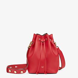 FENDI MON TRESOR - Mini-Tasche aus Leder in Rot - view 1 thumbnail