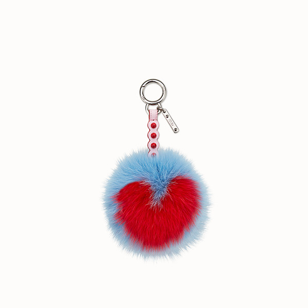 FENDI POMPOM CHARM - Charm in multicolour fox fur - view 1 small thumbnail