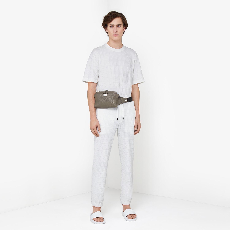 FENDI T-SHIRT - White chenille T-shirt - view 4 detail