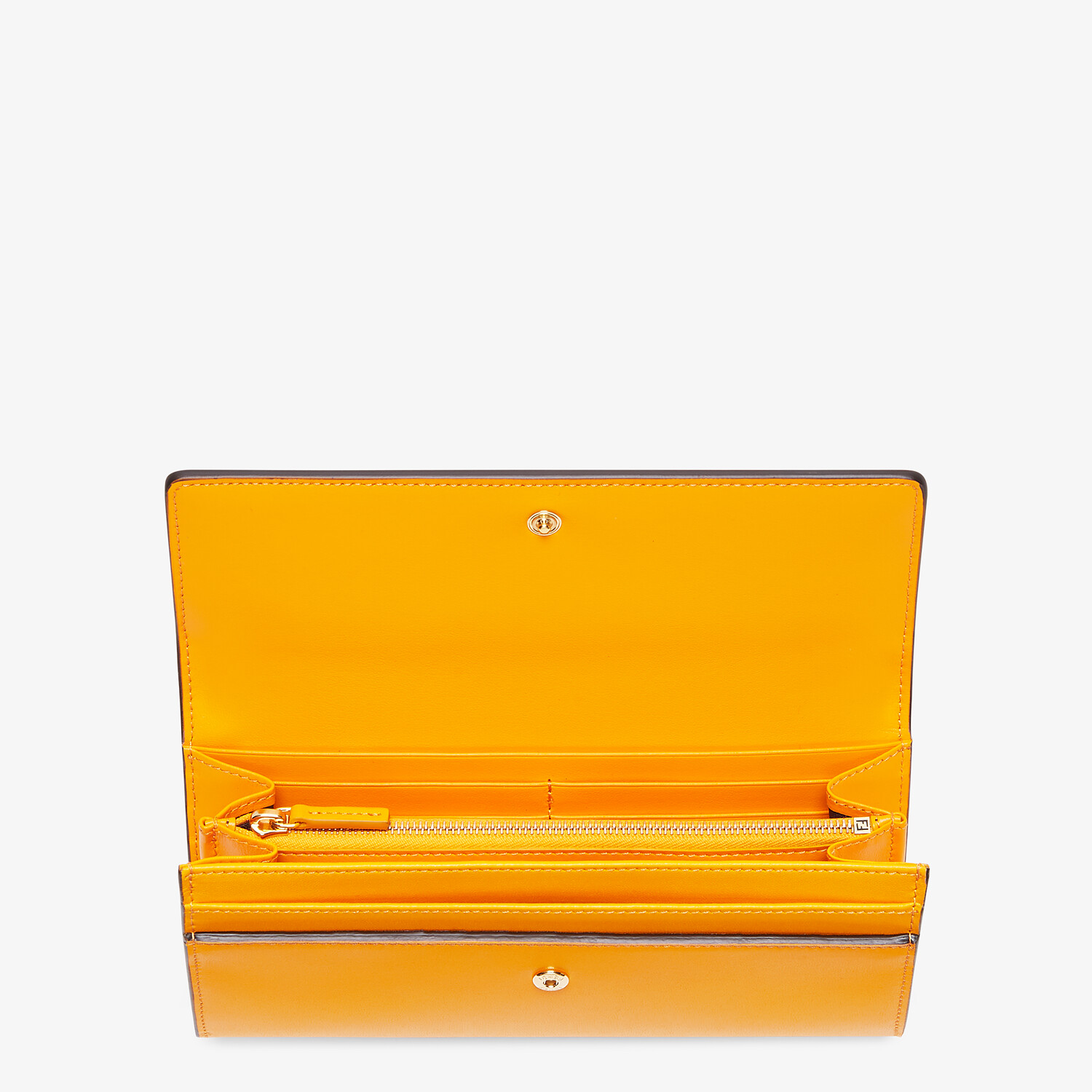 FENDI CONTINENTAL - Orange leather wallet - view 3 detail