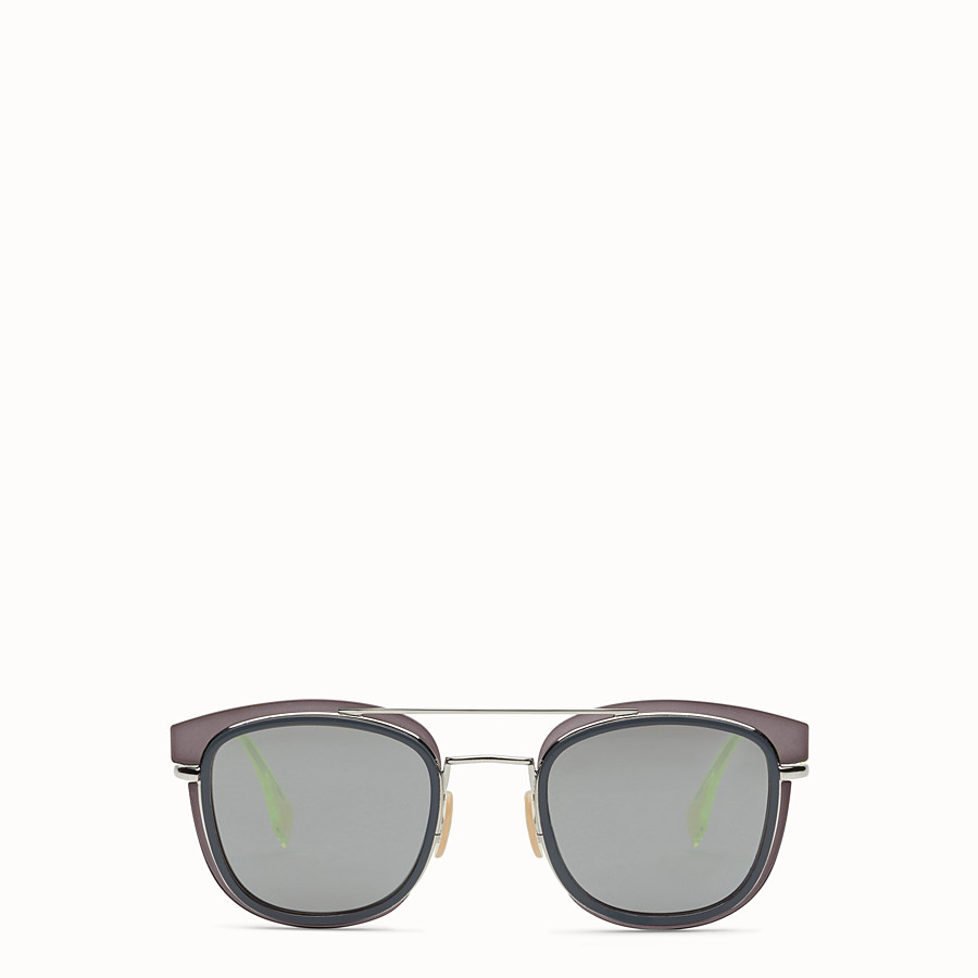FENDI FENDI GLASS - Grey and palladium sunglasses - view 1 detail