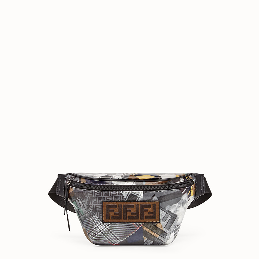 FENDI BELT BAG - Multicolour canvas belt bag - view 1 detail