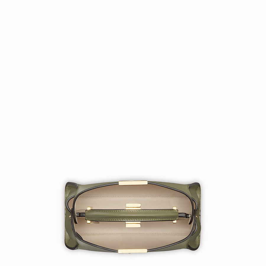 FENDI PEEKABOO ESSENTIALLY - Green leather bag - view 4 detail