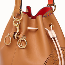 FENDI MON TRESOR - Brown leather bag - view 6 thumbnail