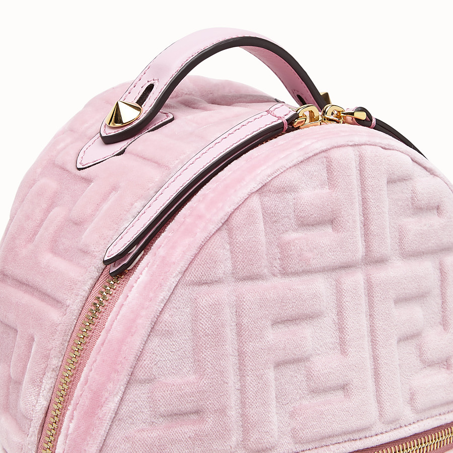 FENDI MINI BACKPACK - Small velvet backpack - view 4 detail