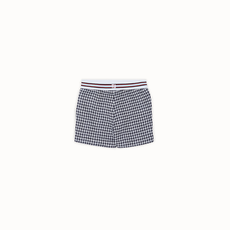 FENDI BERMUDAS - Checked Milano-stitch Bermudas - view 2 detail