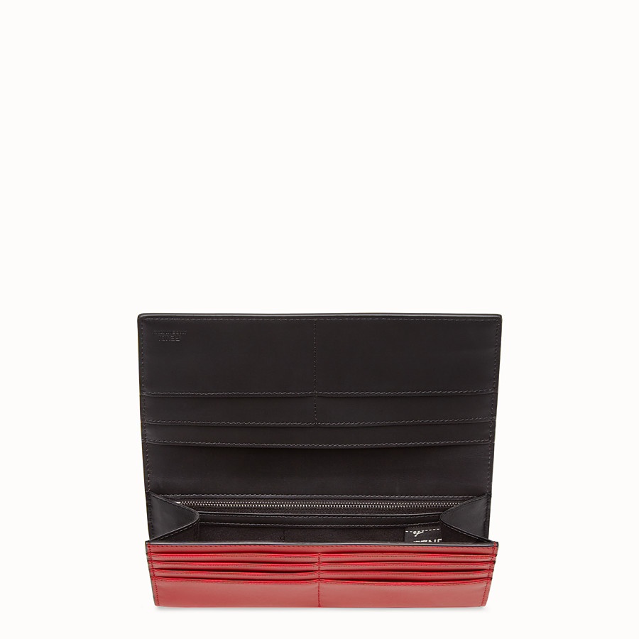 FENDI CONTINENTAL - Red leather wallet - view 3 detail