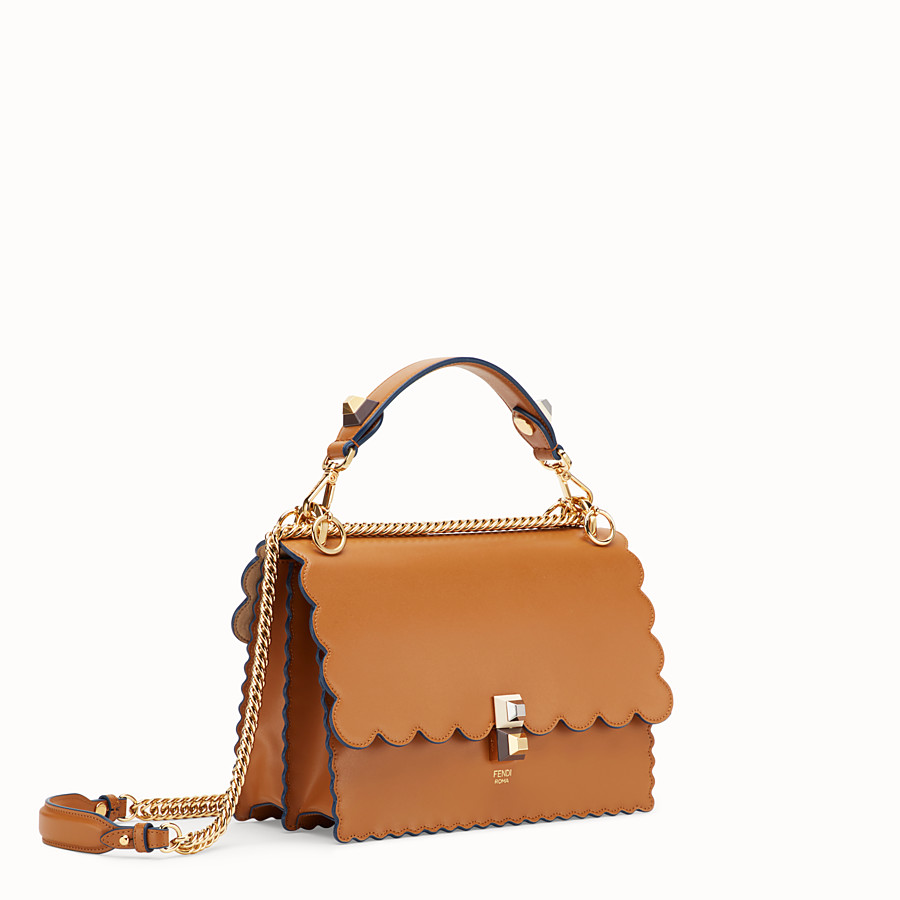 FENDI KAN I - Brown leather bag - view 2 detail