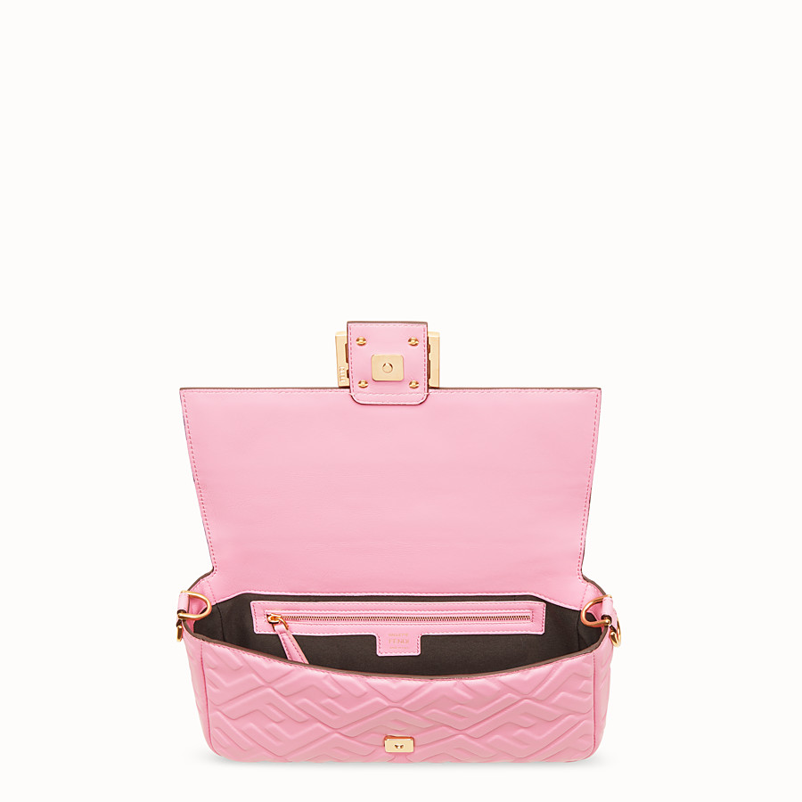 FENDI BAGUETTE - Pink nappa leather bag - view 4 detail