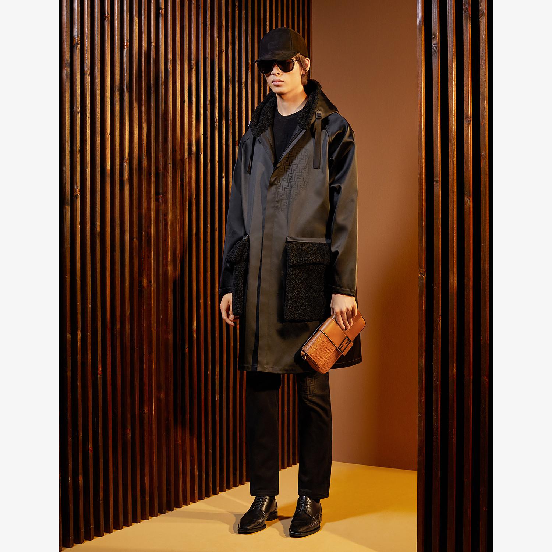 FENDI PARKA - Black nylon overcoat - view 4 detail