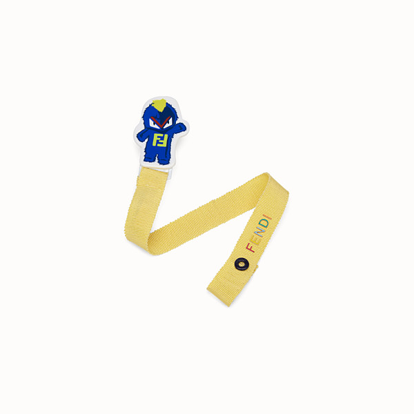 FENDI PACIFIER CLIP - Baby boy's yellow polyester dummy clip - view 1 small thumbnail