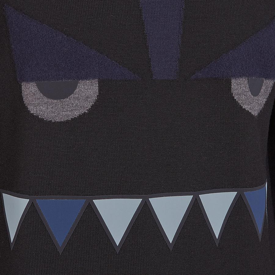 FENDI PULLOVER - Black wool sweater - view 3 detail