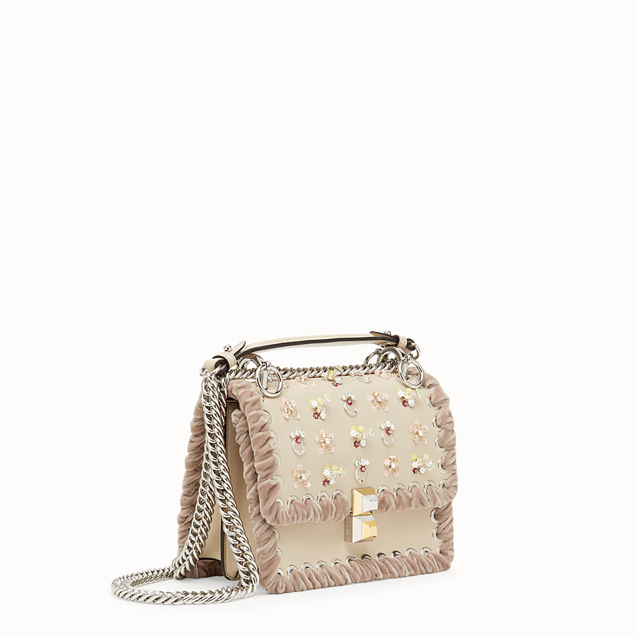 FENDI KAN I SMALL - Beige leather minibag - view 2 detail