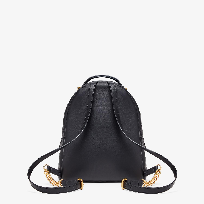 FENDI MINI BACKPACK - Black leather FF backpack - view 4 detail