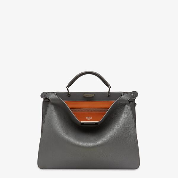 Tasche aus Leder in Grau