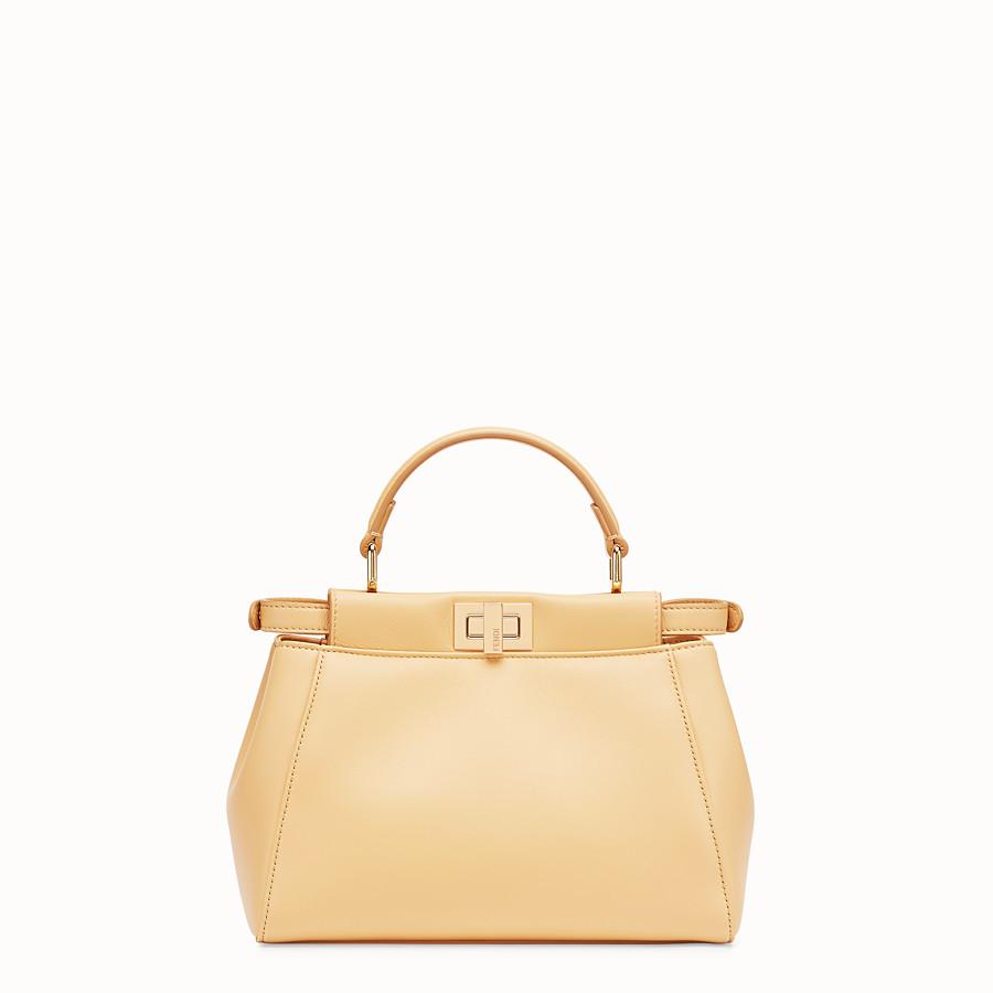 FENDI PEEKABOO ICONIC MINI - Yellow nappa leather bag - view 4 detail