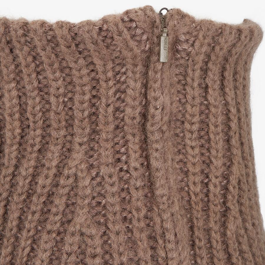 FENDI SKIRT - Brown mohair skirt - view 3 detail
