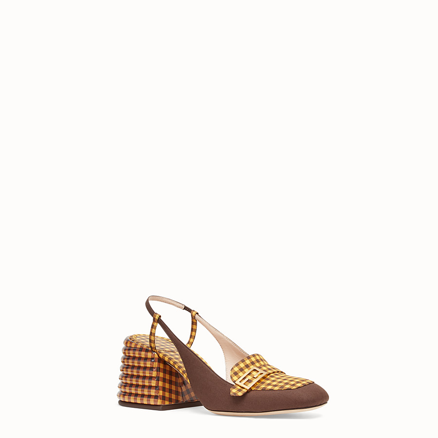 FENDI SLINGBACK - Brown cotton Promenade - view 2 detail