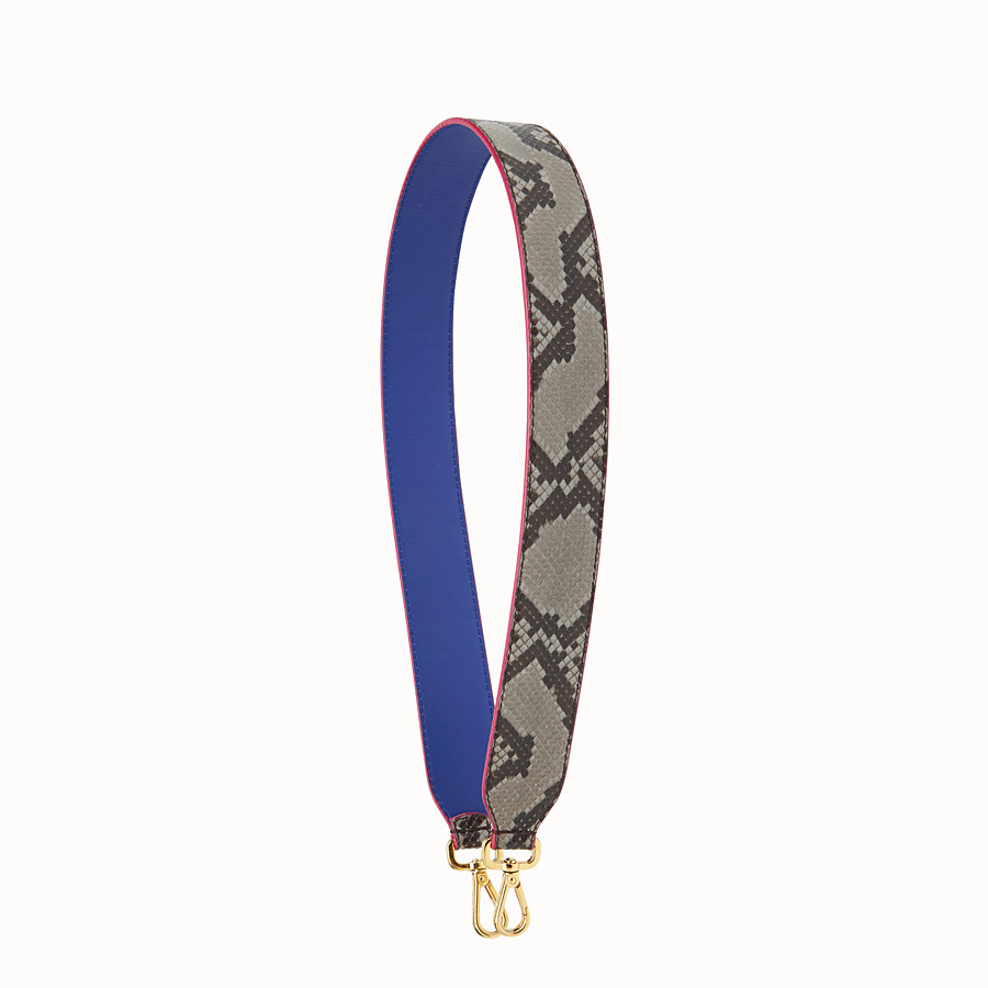 FENDI STRAP YOU - Interchangeable grey python skin shoulder strap - view 1 detail