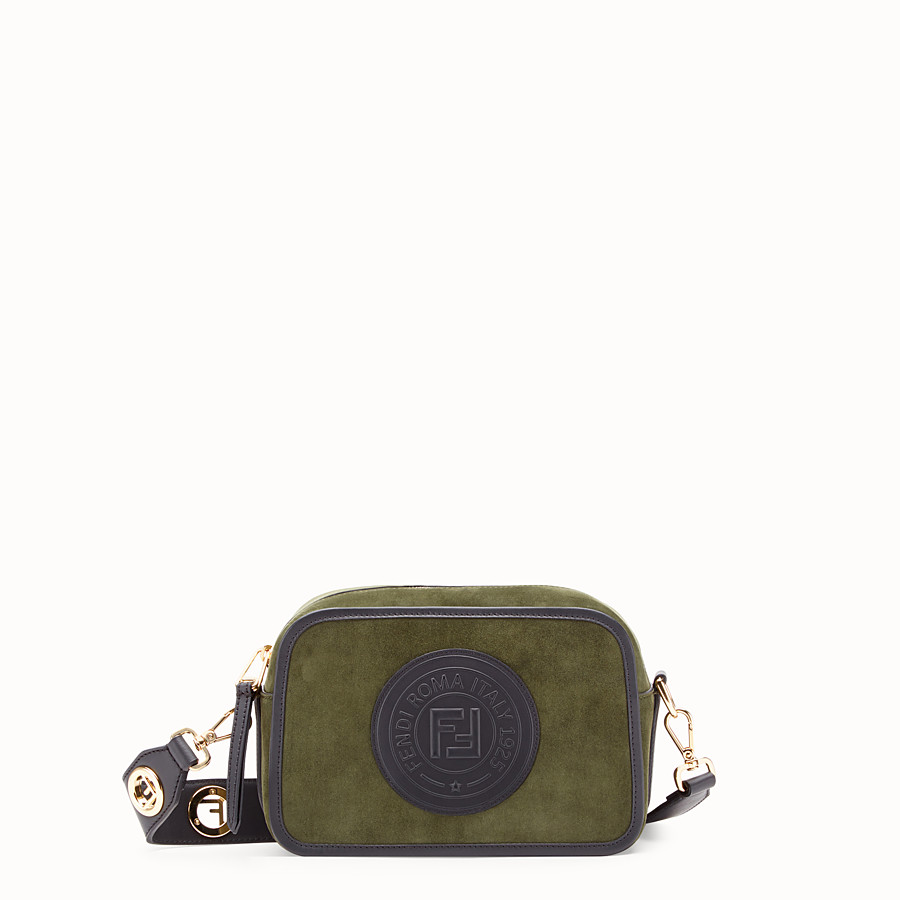 FENDI CAMERA CASE - Green suede bag - view 1 detail