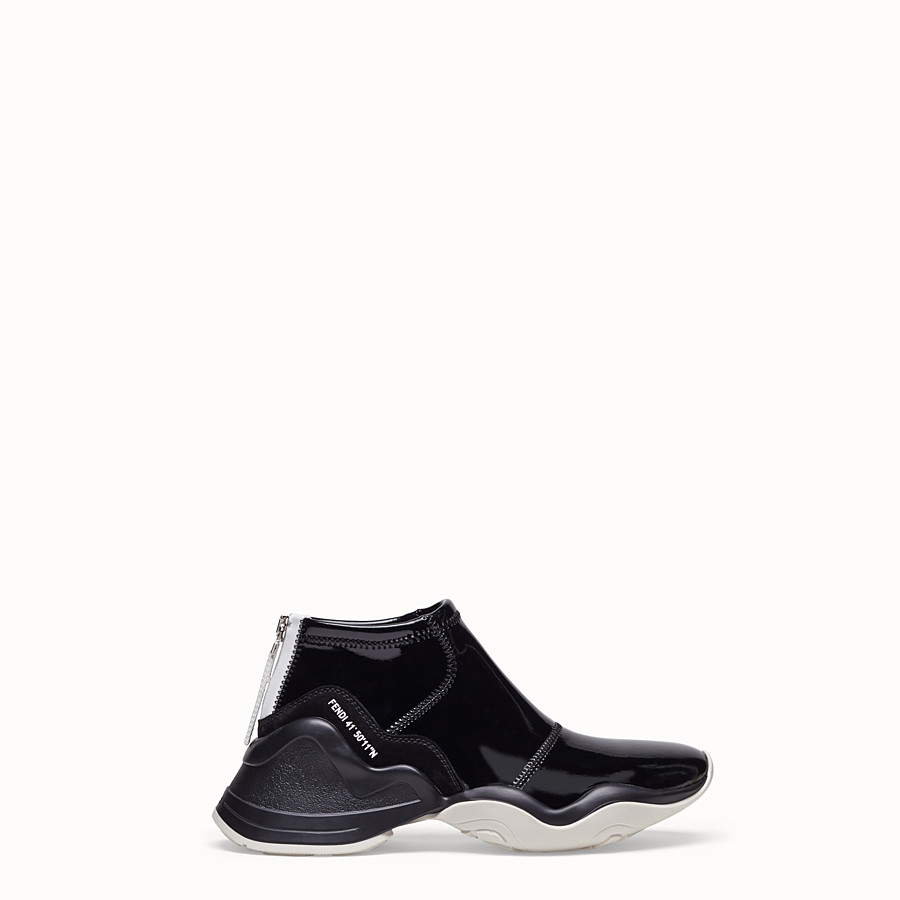 FENDI SNEAKERS - Sneakers in glossy black neoprene - view 1 detail