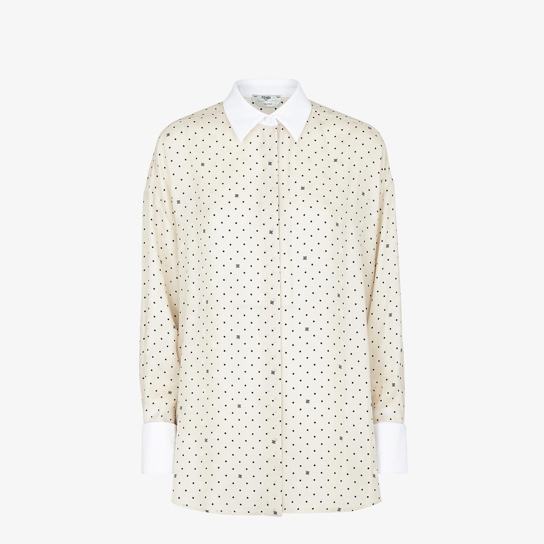 FENDI SHIRT - White satin crêpe shirt - view 1 detail