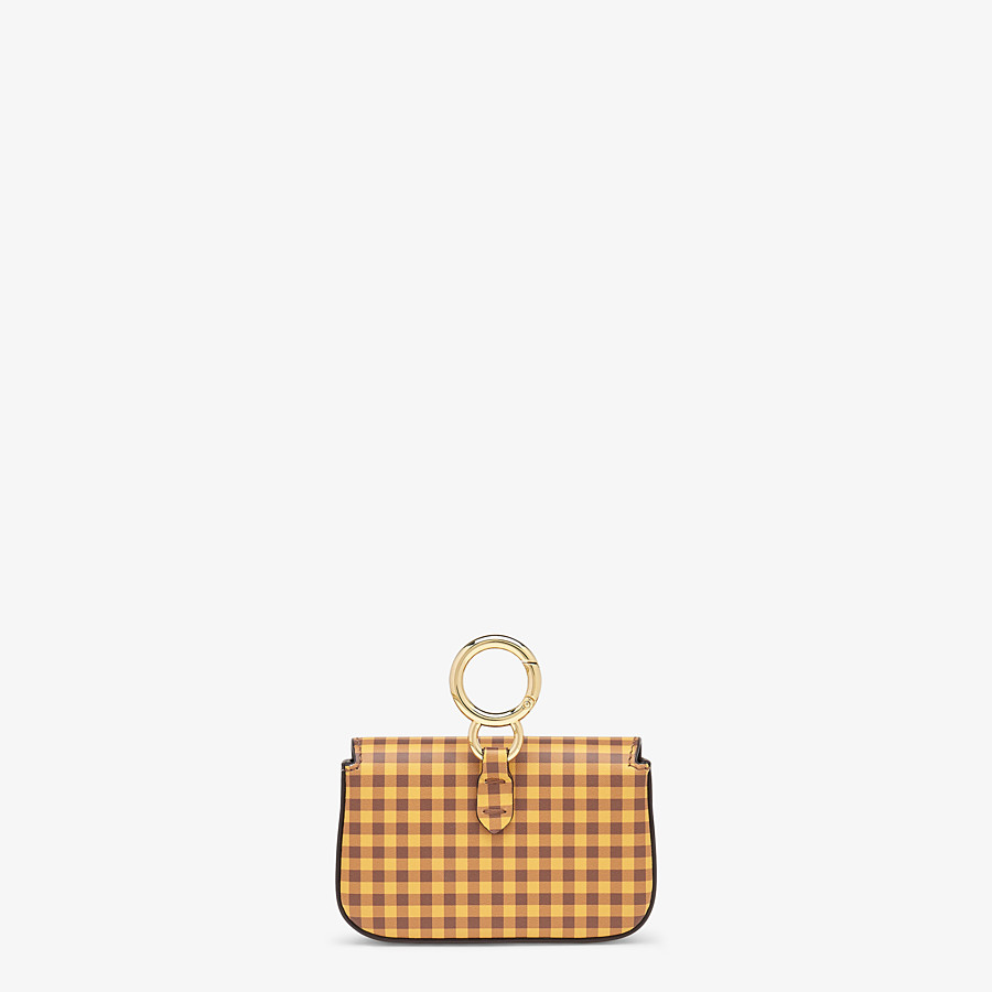 FENDI NANO BAGUETTE CHARM - Brown leather charm - view 4 detail