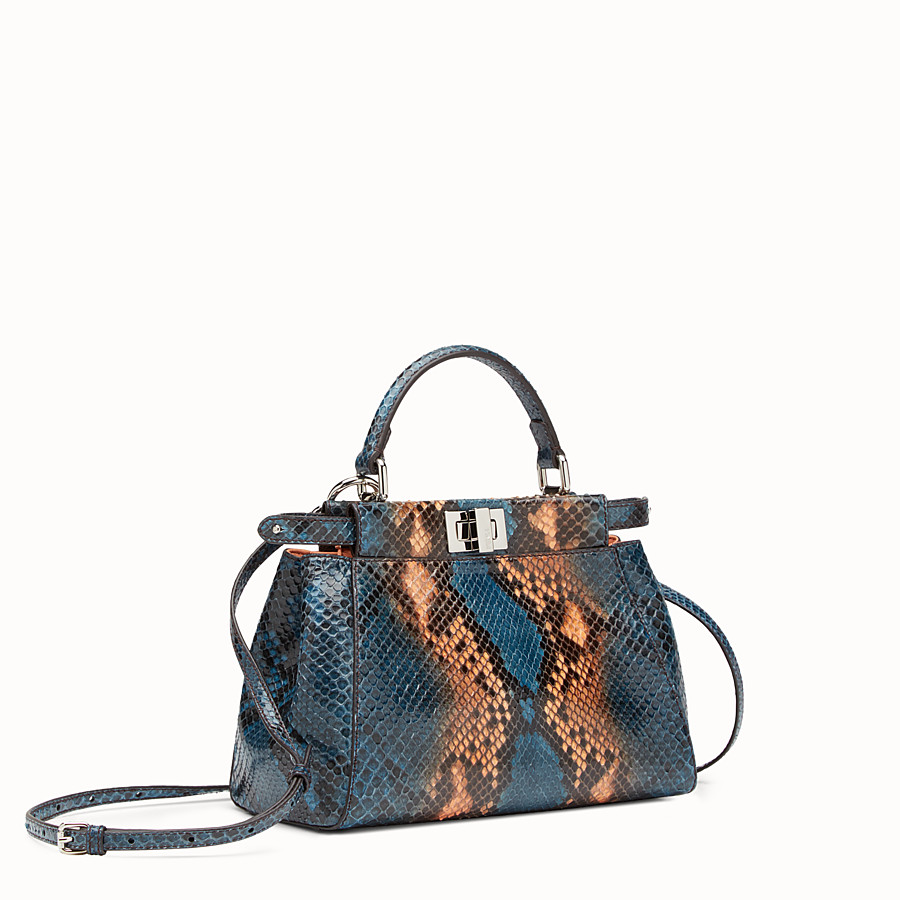 FENDI PEEKABOO MINI - Two-tone python handbag - view 2 detail