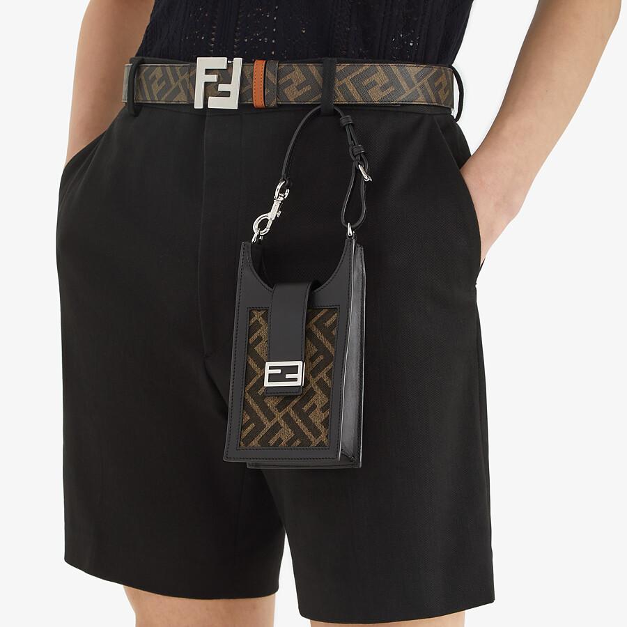 FENDI PHONE BAG - Brown fabric mobile phone holder - view 5 detail
