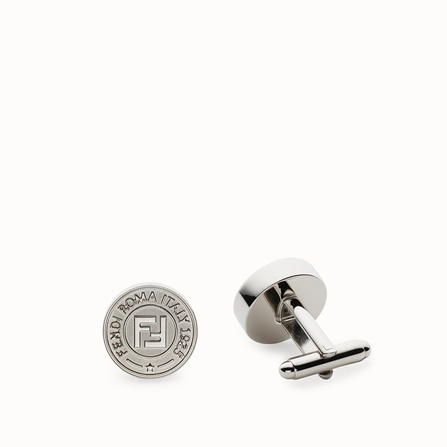FENDI CUFFLINKS - Silver-colored cufflinks - view 1 detail