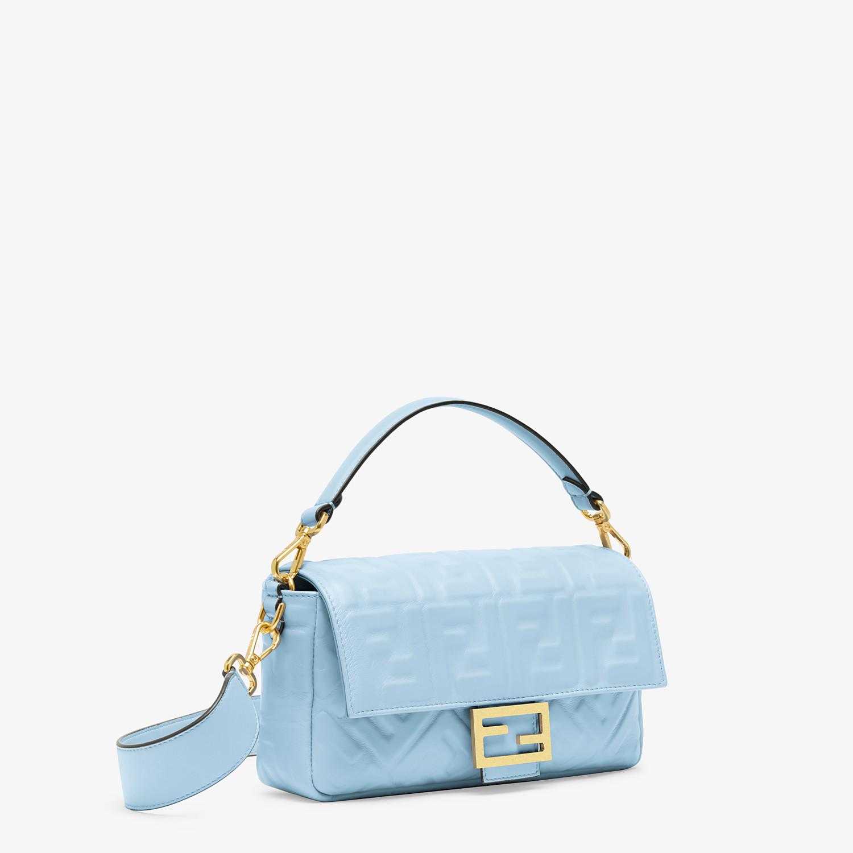 FENDI BAGUETTE - Tasche aus Nappaleder in Hellblau - view 2 detail