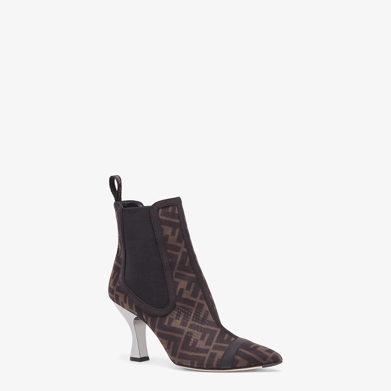 FENDI COLIBRÌ - Black mesh, high-heeled ankle boots - view 2 detail