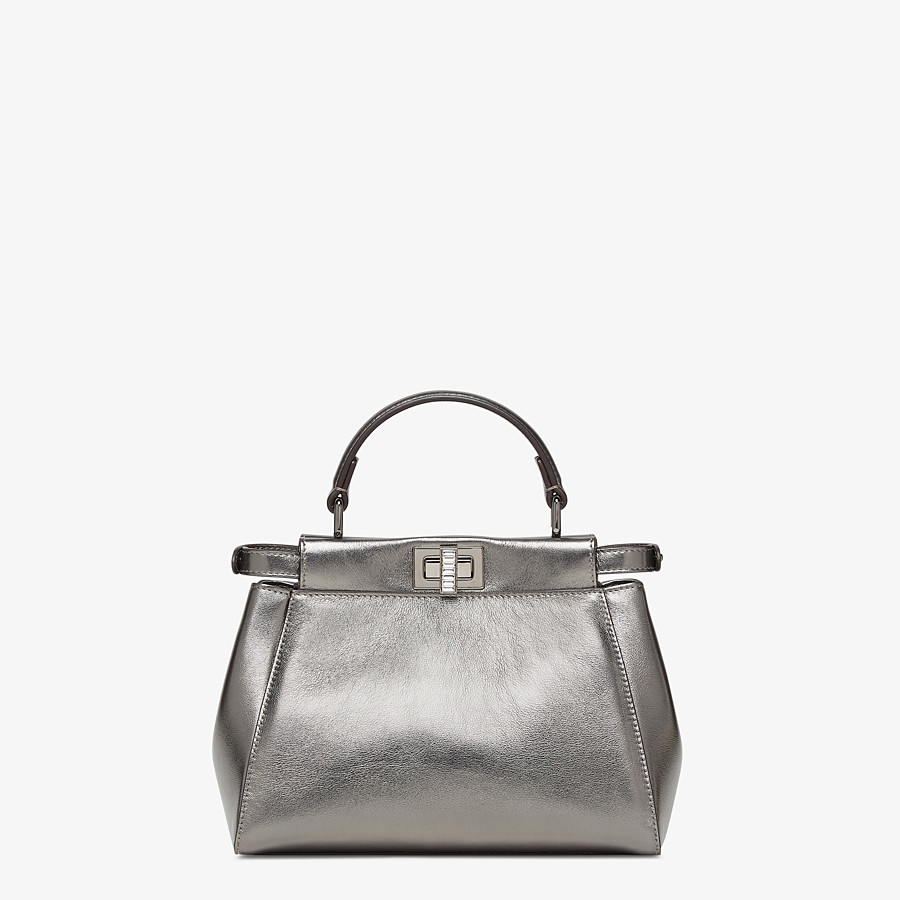 FENDI PEEKABOO MINI - Graphite leather bag - view 3 detail
