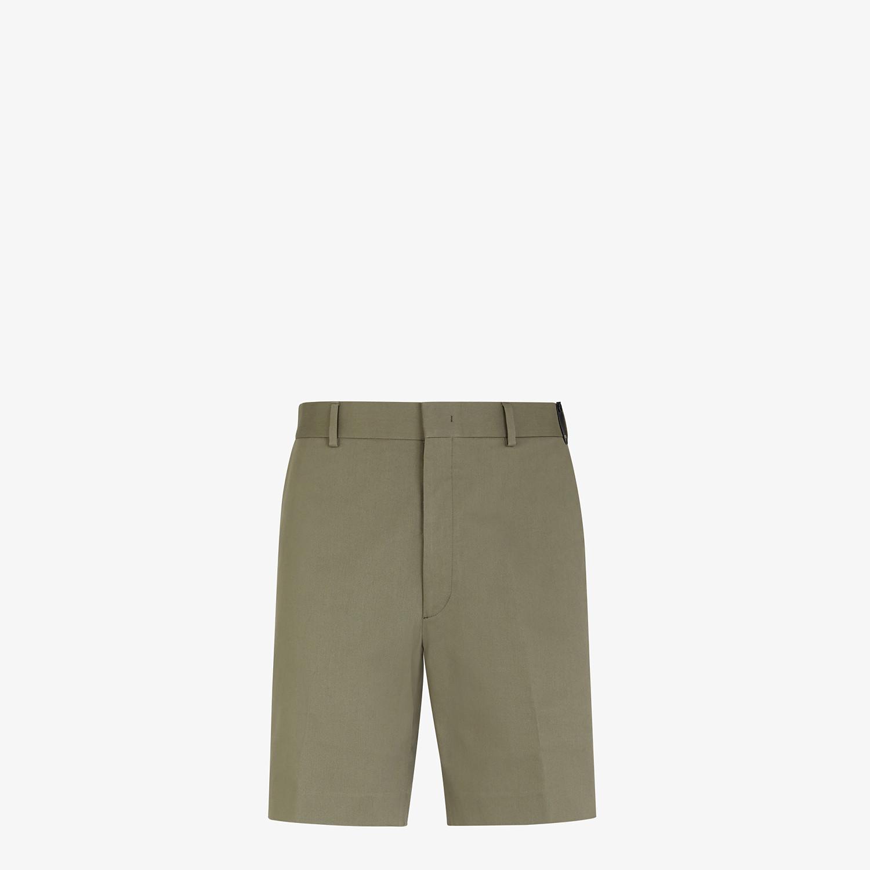 FENDI BERMUDAS - Green cotton trousers - view 1 detail