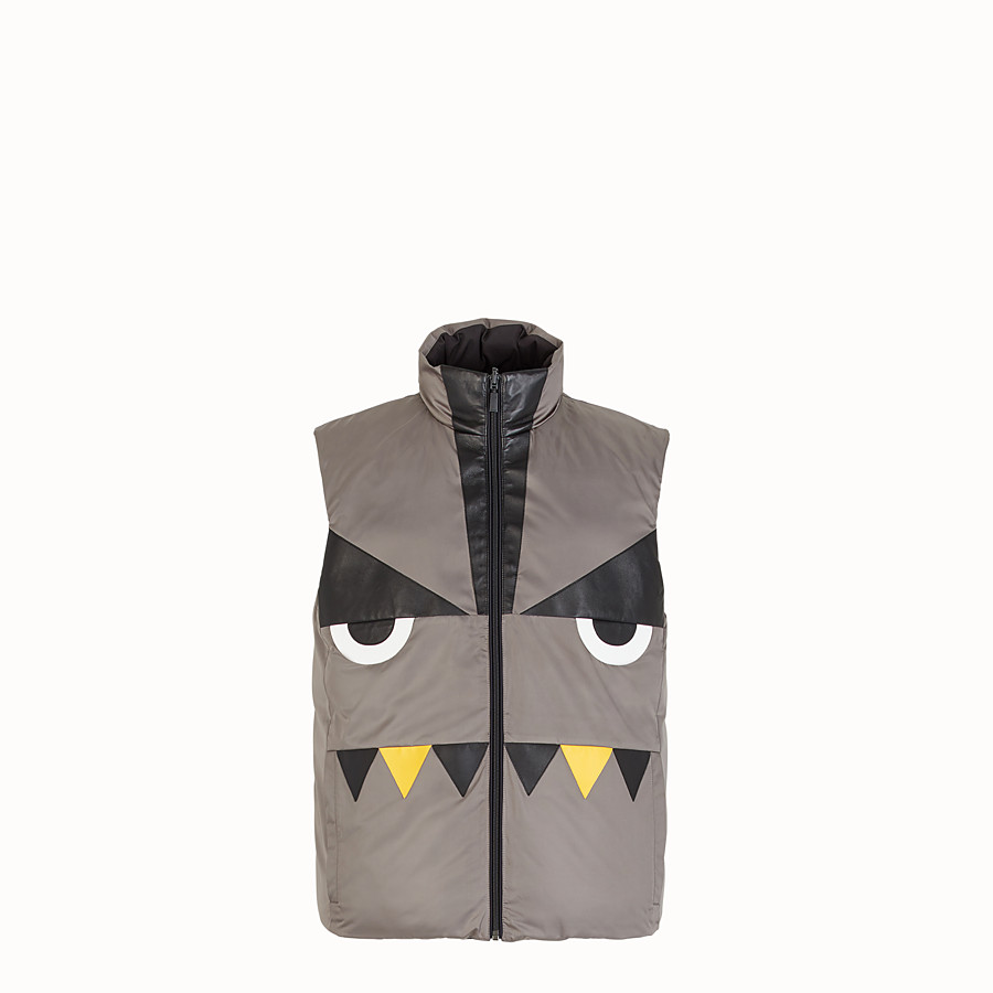 FENDI GILET - Black nylon gilet - view 4 detail
