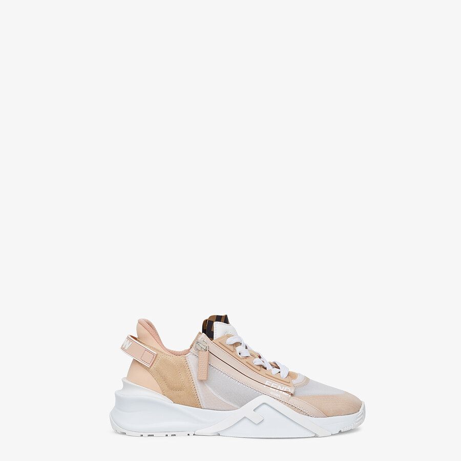 FENDI FENDI FLOW - Low top in pink nylon and suede - view 1 detail