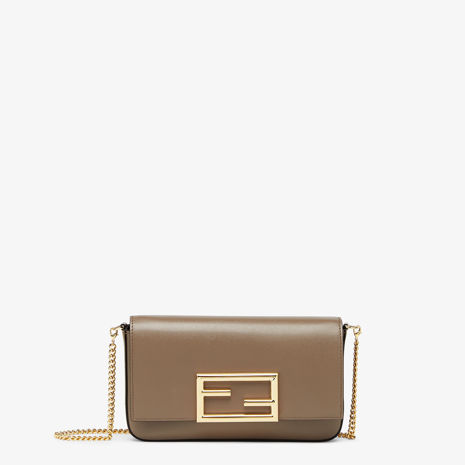 FENDI WALLET ON CHAIN WITH POUCHES - Grey leather mini-bag - view 1 detail