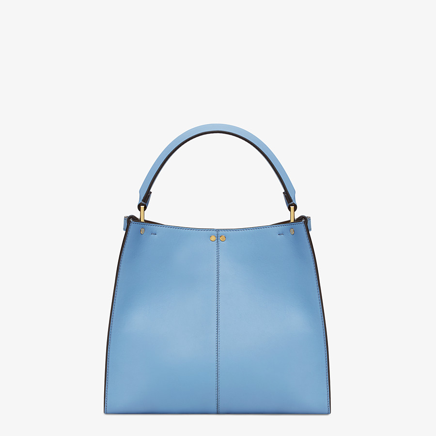 FENDI PEEKABOO X-LITE MEDIUM - Pale blue leather bag - view 5 detail