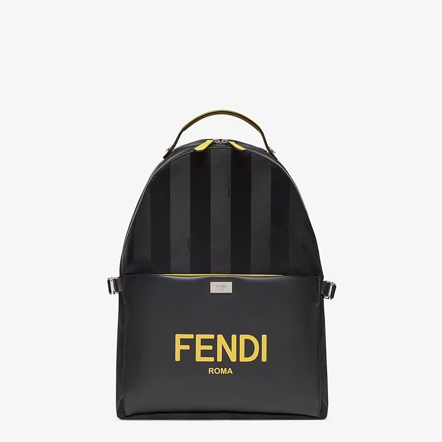 FENDI ESSENTIAL BACKPACK - Black nylon backpack - view 1 detail