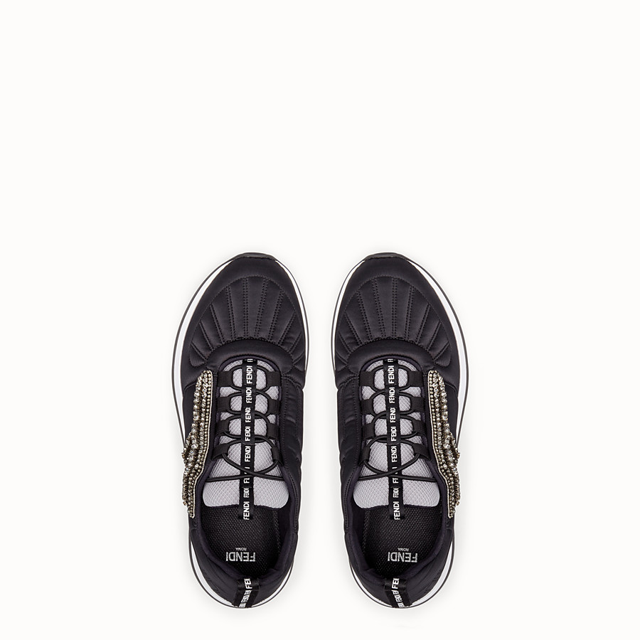 FENDI SNEAKERS - Black satin sneakers - view 4 detail