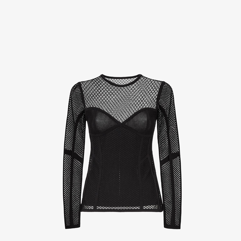 FENDI JUMPER - Black mesh jumper - view 1 detail
