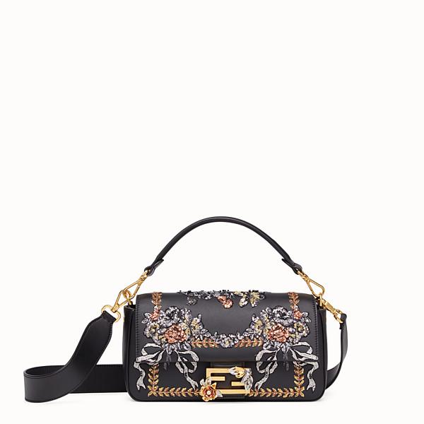 FENDI BAGUETTE - Black leather bag - view 1 small thumbnail